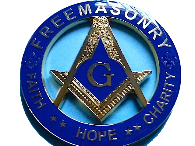 Masonic Auto Cut Out Emblems Blue Lodge Faith Hope Charity Master