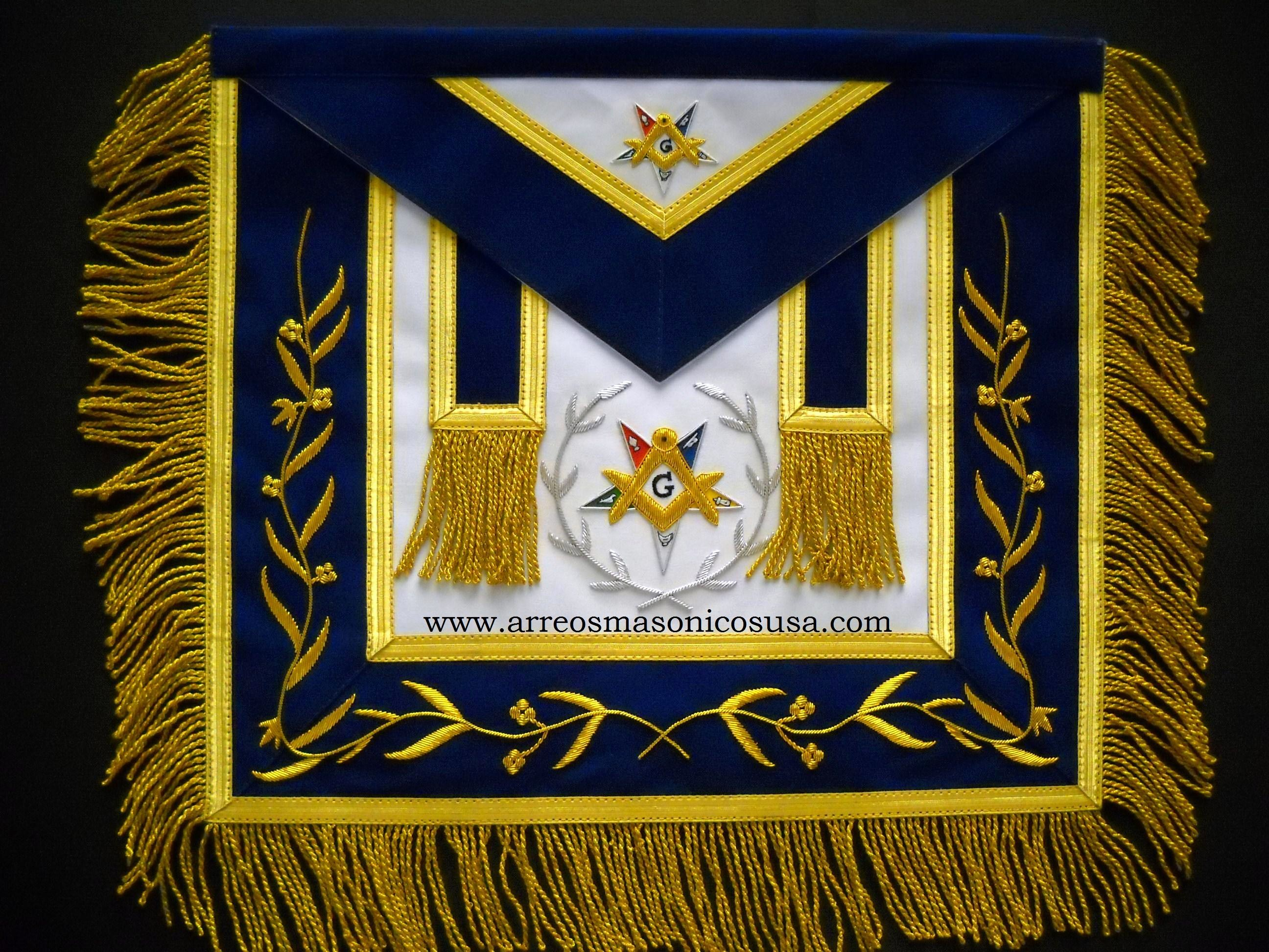 OES PATRON APRONS : OES Patron Masonic Apron Golden Mylar