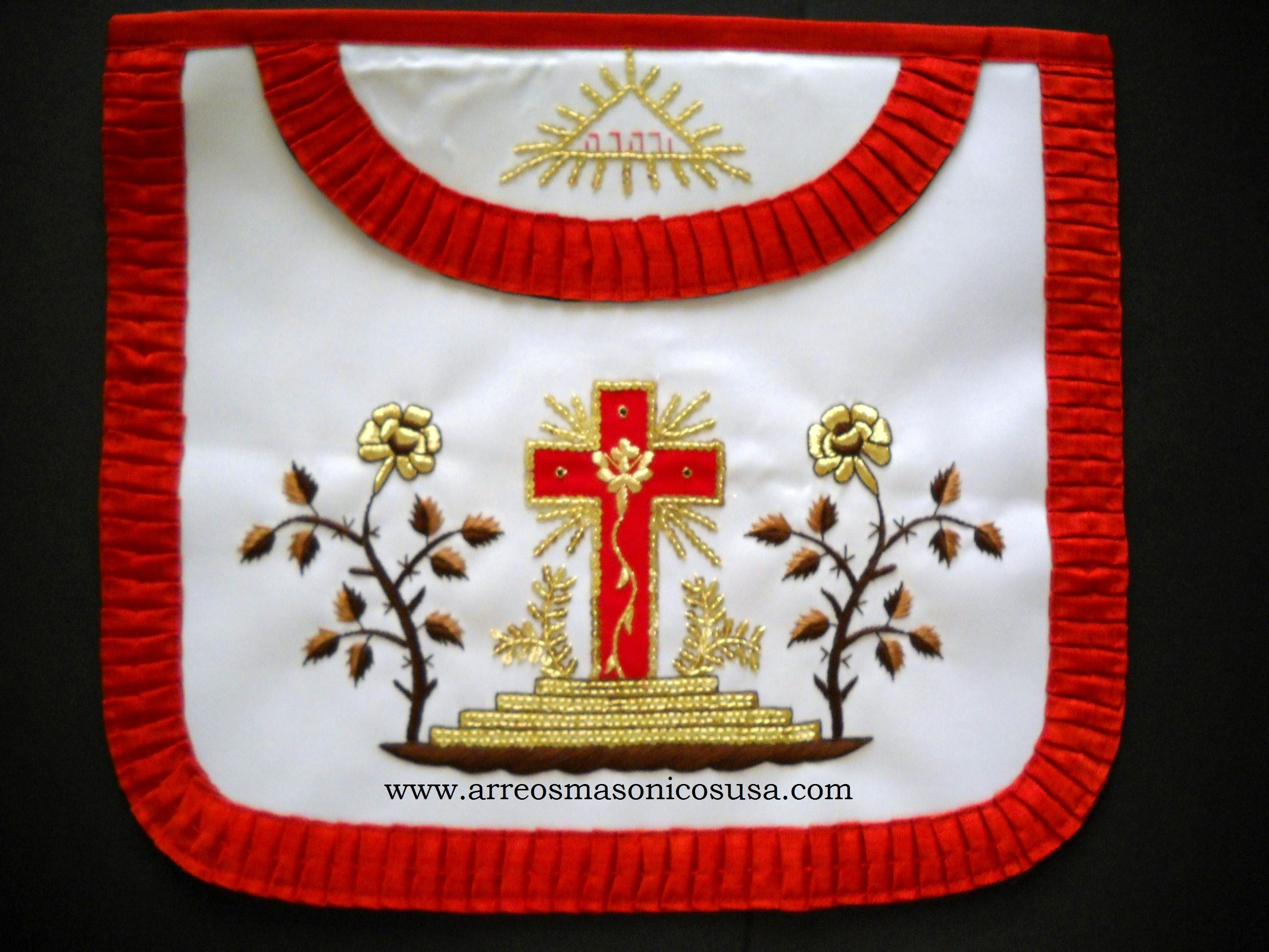 Red White And Blue Auto Sales >> Knight of Rose Croix Degree : Rose Croix 18 Degree Apron