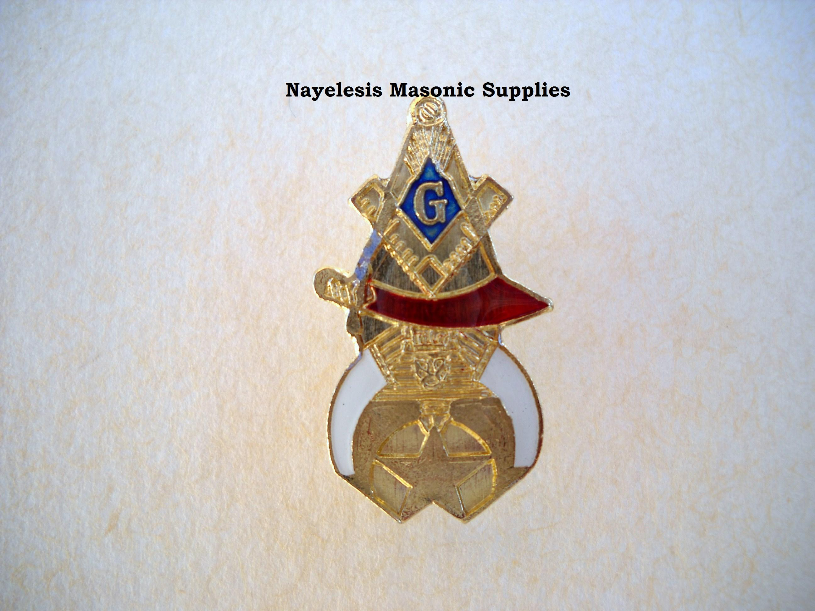 Lapel Pins Masonic Gifts : Master Mason Shriner Lapel Pin